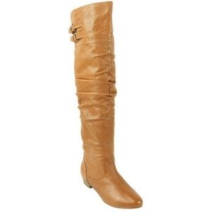 Steve Madden Tan Leather Over the Knee Boots